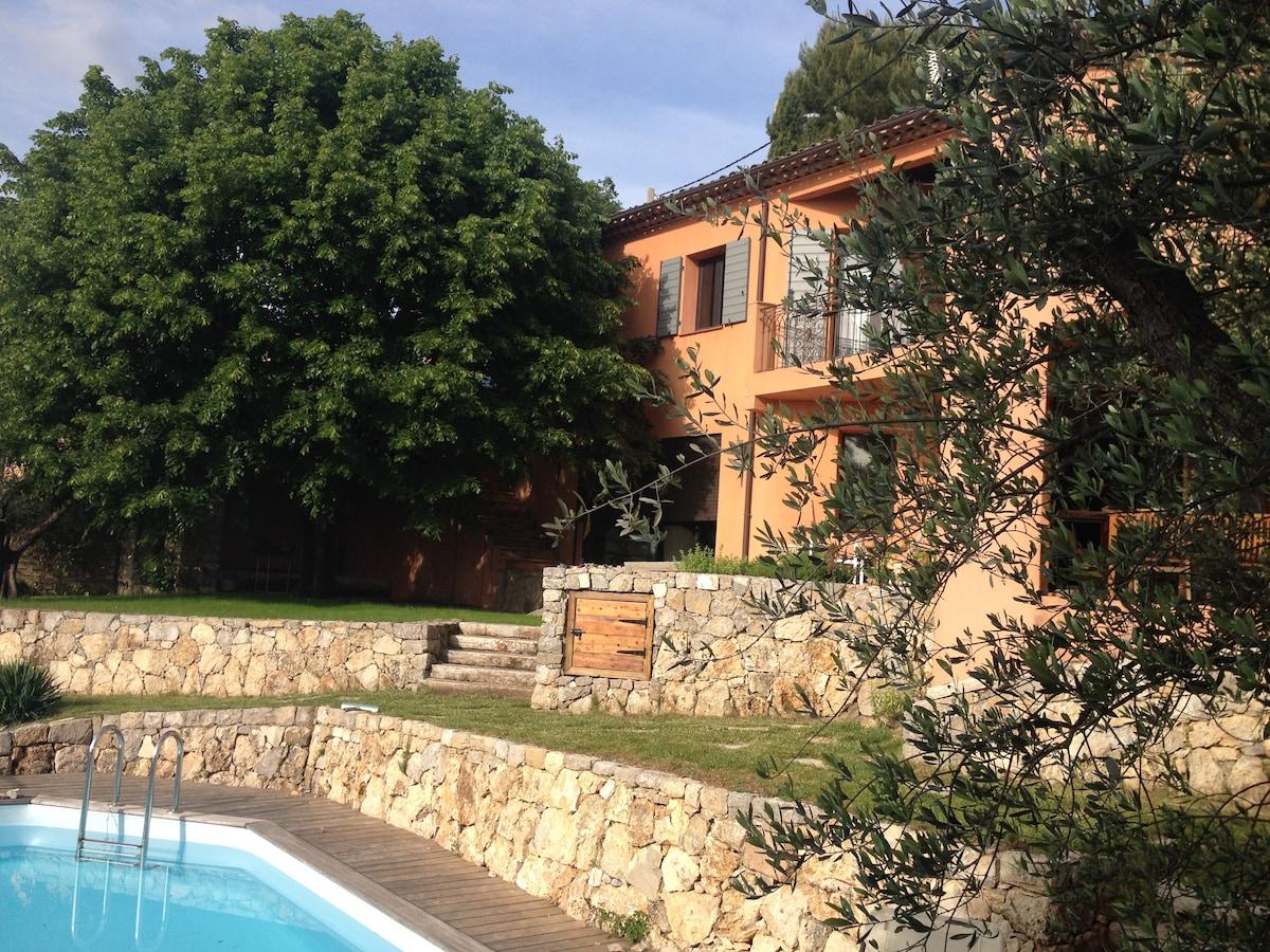 Villa in the hills behind Grasse