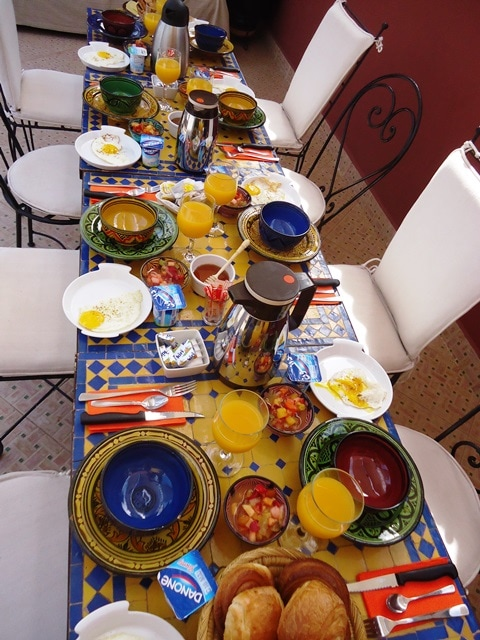 Un vrai petit déjeuner marocain