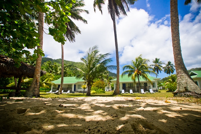 Chalets d' Anse Forbans just steps away from the beach of Anse Forbans