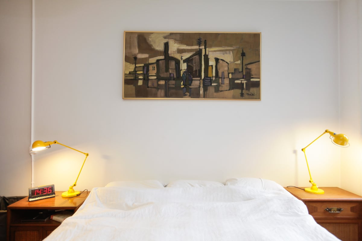 A soft king size bed to cozy up in after a day around Copenhagen