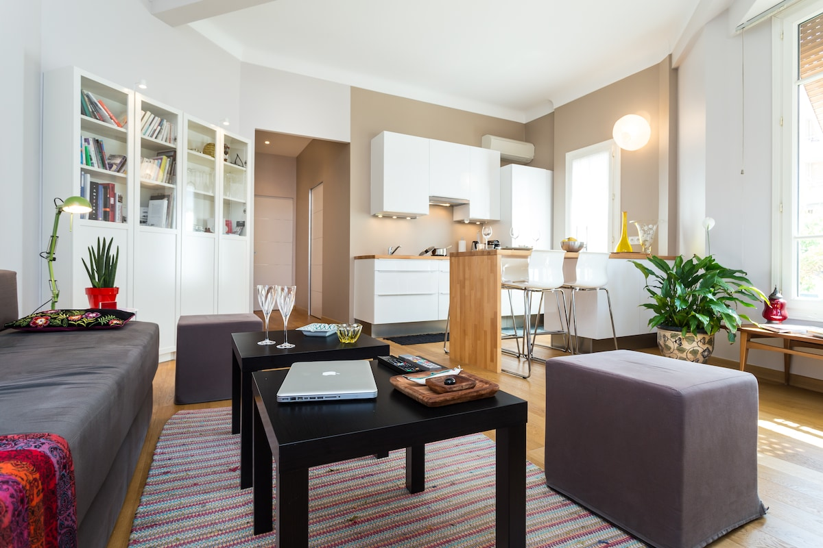 DESIGN 1 Bedroom Flat NICE St Roch