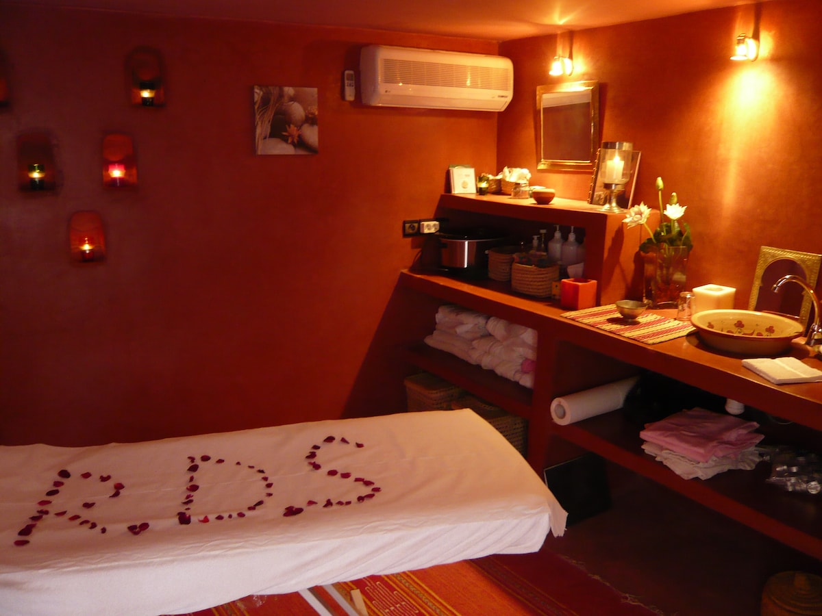 Our massage room