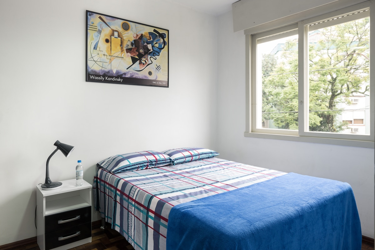 The room with a nice new bed