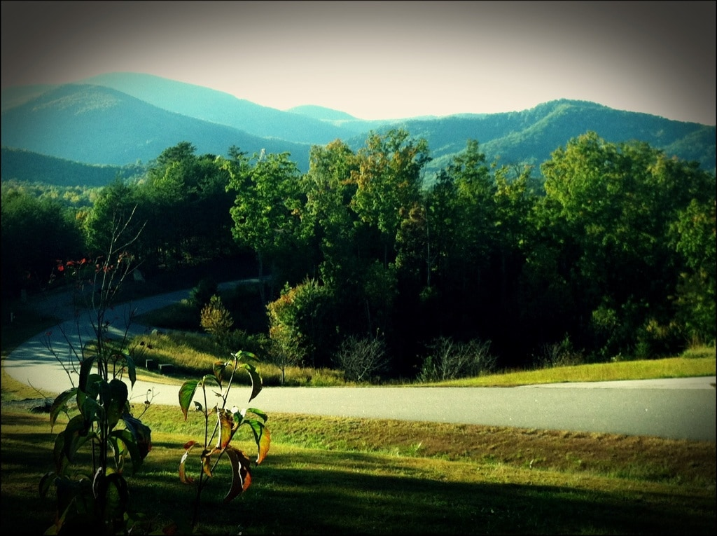 The view of the Blue Ridge Mtns from the front porch