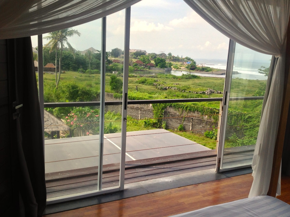 Stunning views from private room