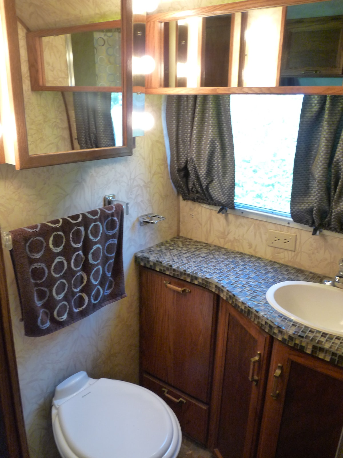 Beautifully renovated and clean bathroom.