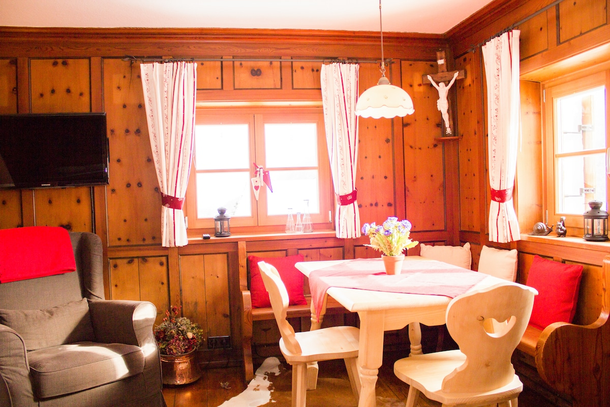 "The old ""stube"", an authentic tyrolean living room"