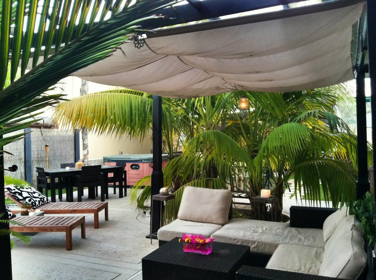 Tropical Home Near Beach w/ Hot Tub
