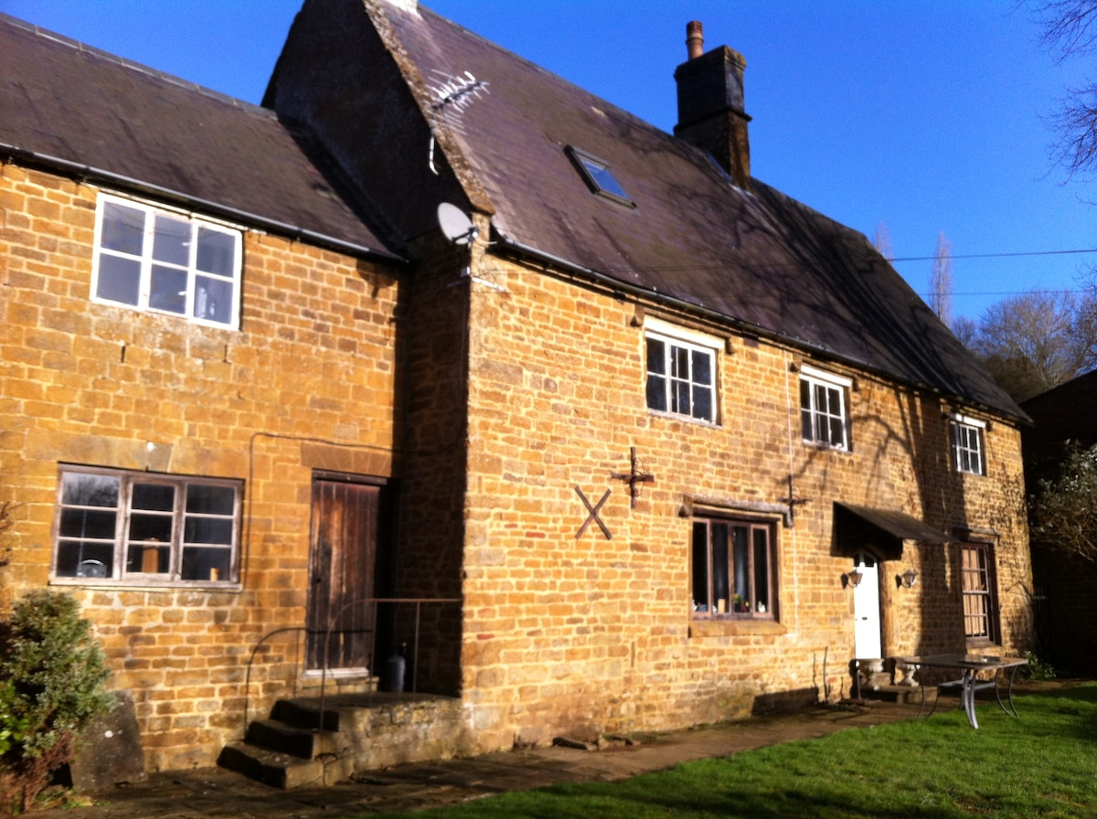 Double bedrooms in listed farmhouse