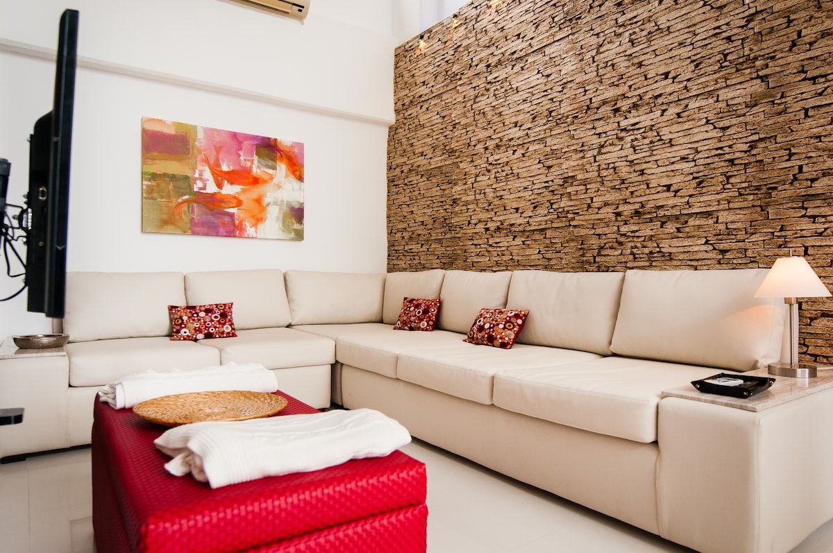 Living room sofas can be converted to two additional beds