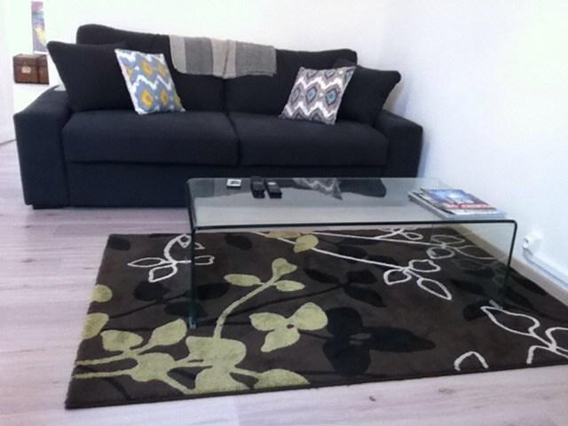 salon avec Canapé lit (HomeSpirit): très confortable qualité supérieure