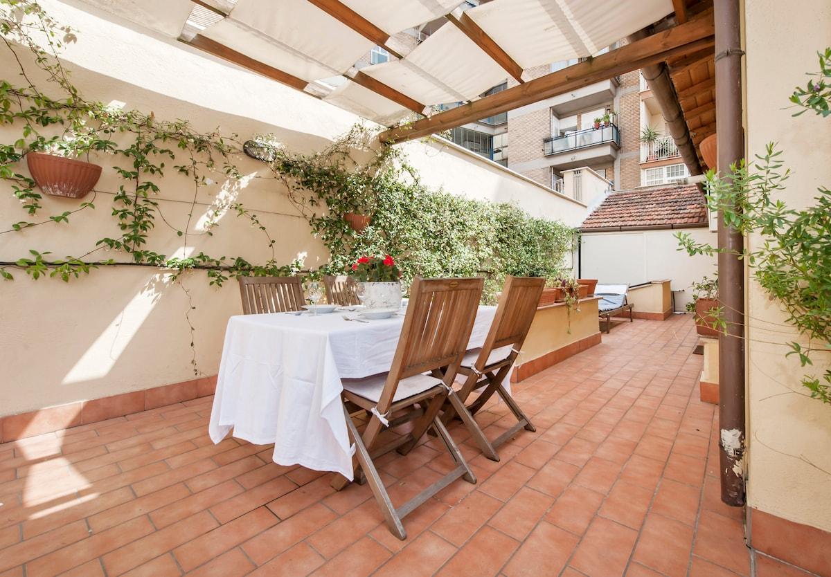 Designer cottage + terrace Pigneto