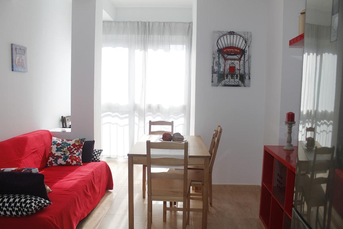 Centric flat in Málaga, 4 br, WIFI