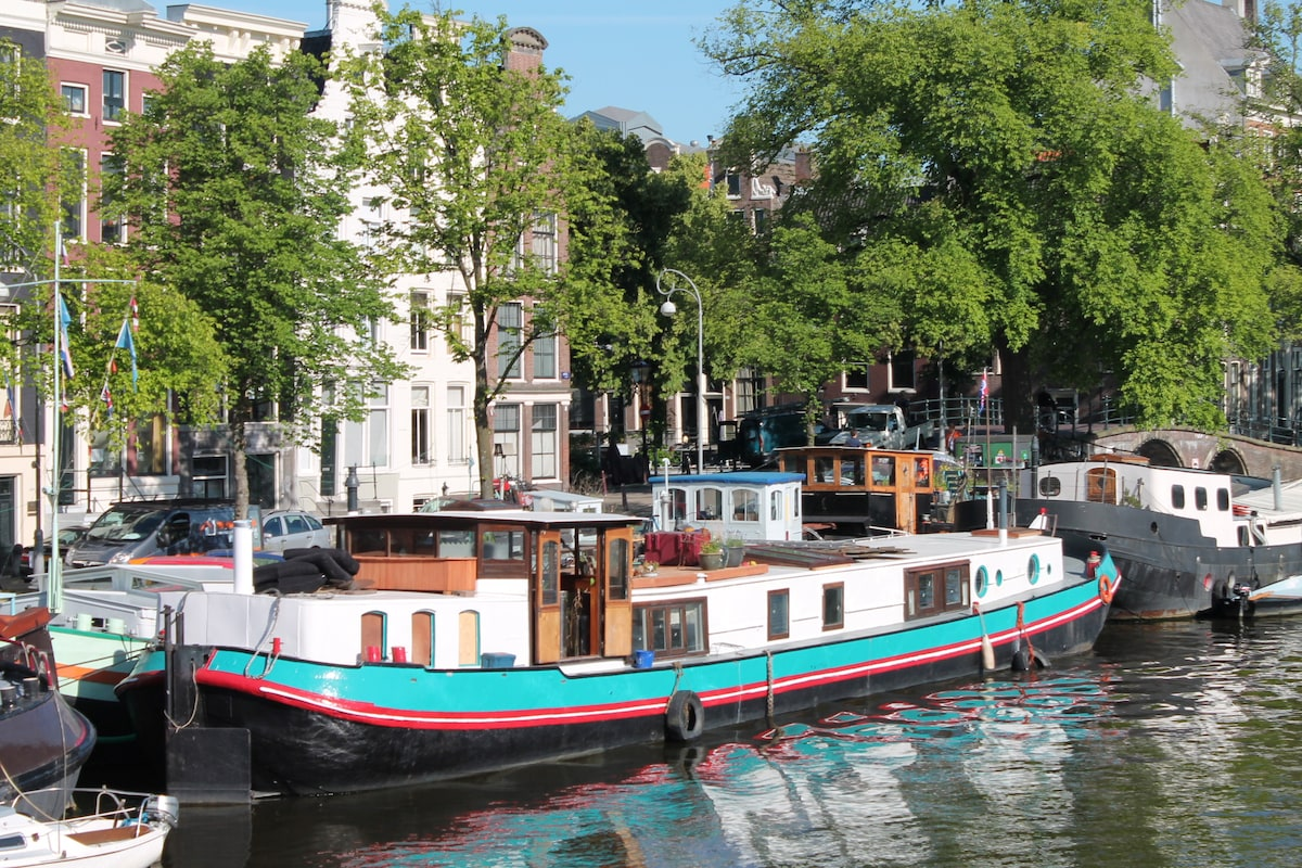 A358 xx bed and breakfast on a boat in amsterdam for Houseboat amsterdam
