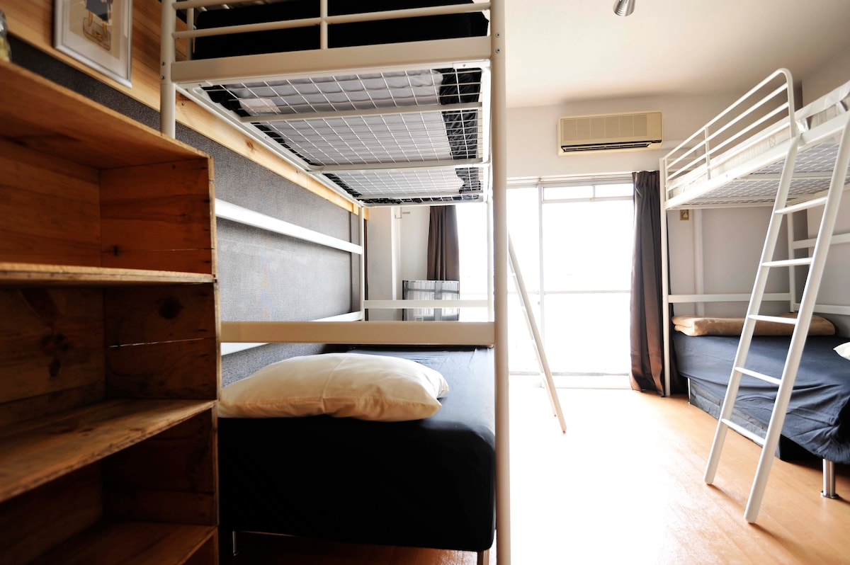 4 single beds to accommodate up to 4 guests comfortably
