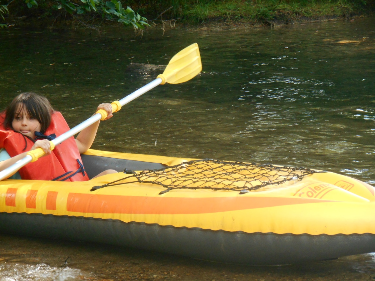 Borrow the kayaks and head to Adams Pond, only 1 mile from our farm.