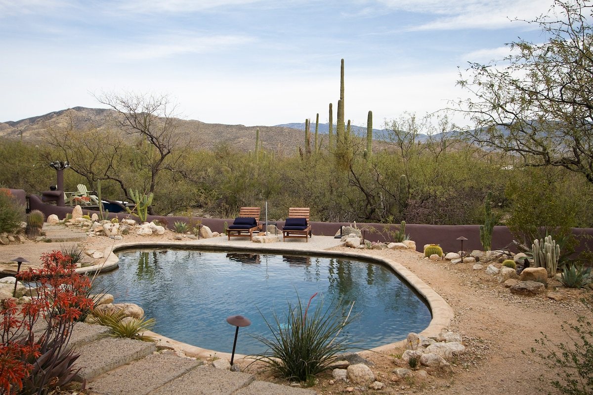 Your pool with viewing deck in rear