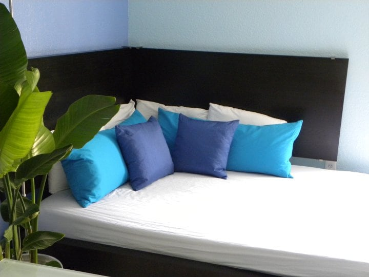 This luxurious queen-sized bed easily sleeps two.  The apartment is equipped with -speed internet (you can work from home if you like) a flat screen TV, with Netflix, Hulu, so you can  watch a huge choice of movies, and television programs from around the