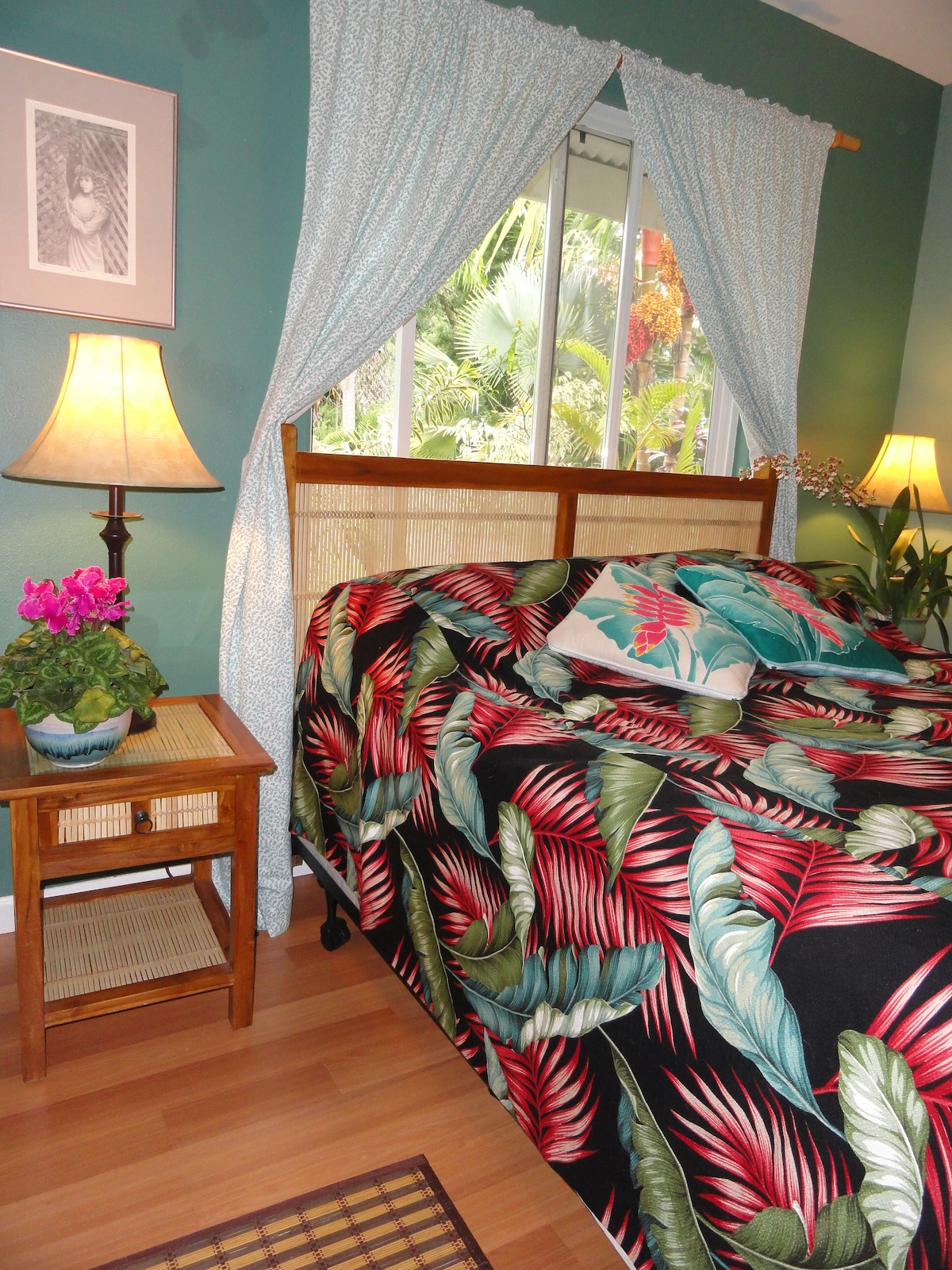 Your quiet bedroom with extremely comfortable new Queen bed.