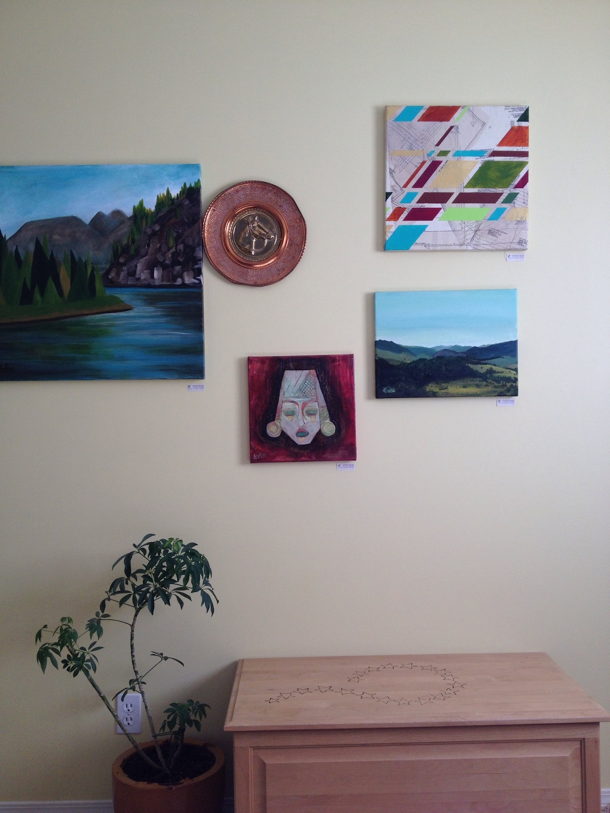 Your Bedroom - art is tagged for sale - my sister is selling some original artwork - ask me about it :)
