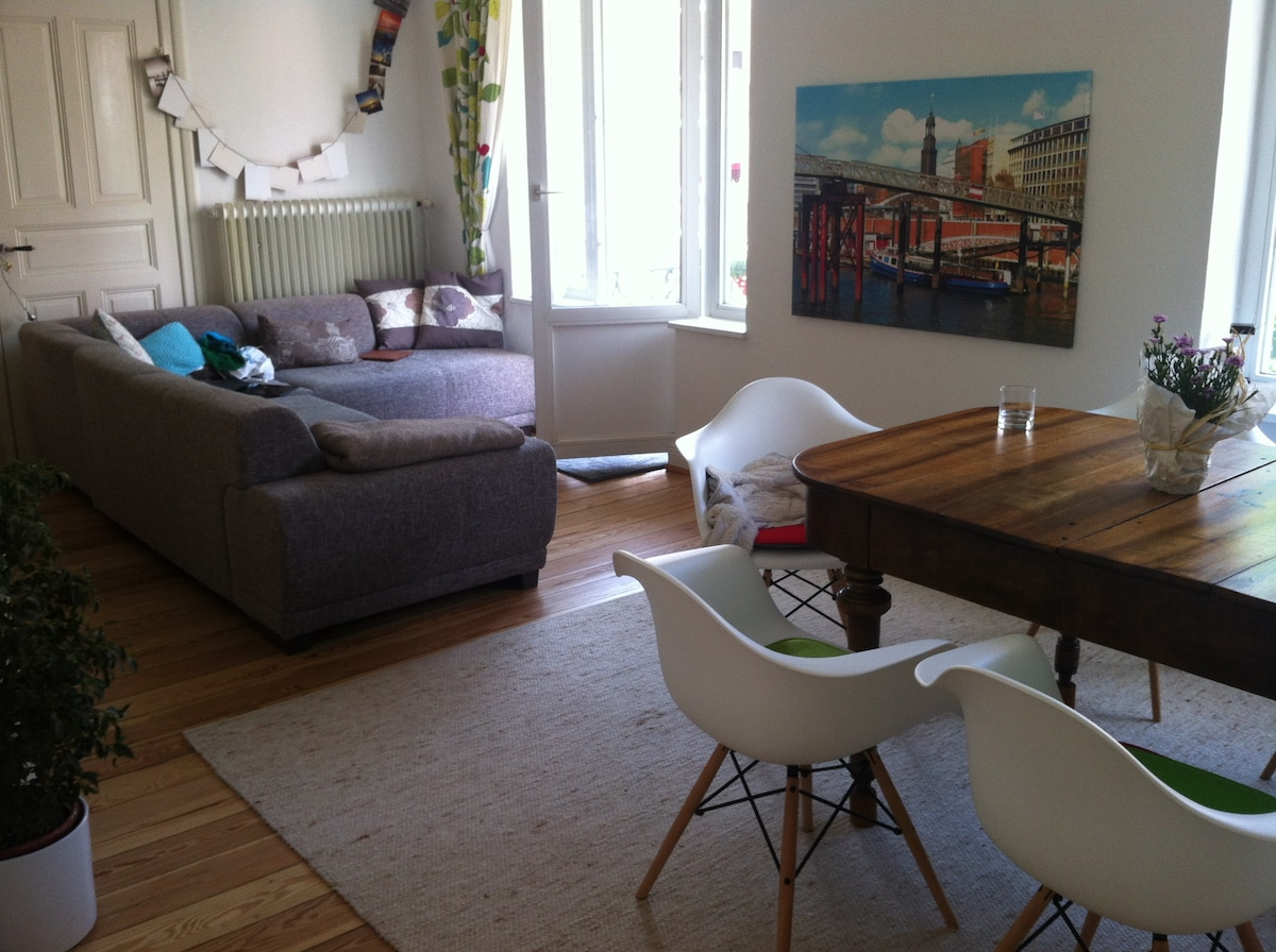 Central & close to the Lake Alster