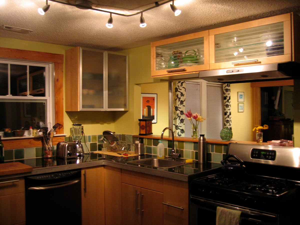 A fully stocked kitchen--even comes with spices too!