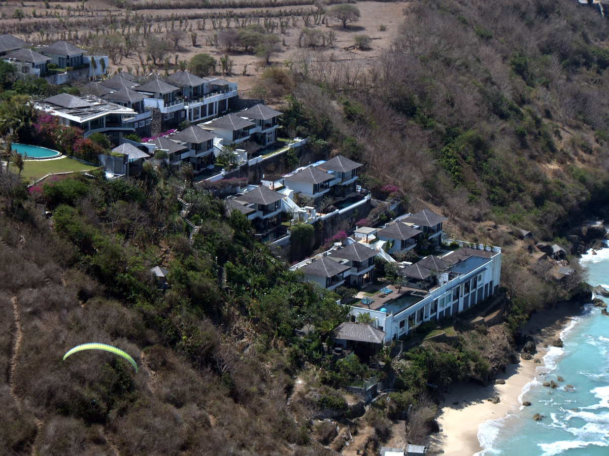 This is our neighbourhood.  This was taken by our guest Noah, he likes paragliding.