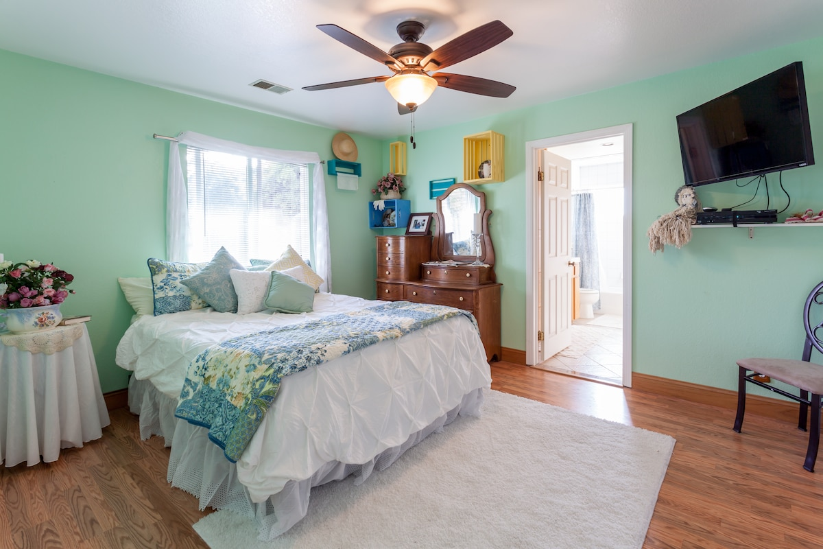 Beautiful ensuite room for 2 +child