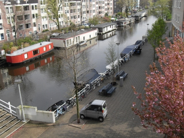 View of canal in front of the house