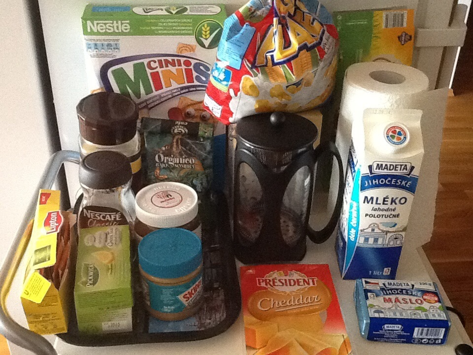 Czech snacks and coffee/tea at your disposal