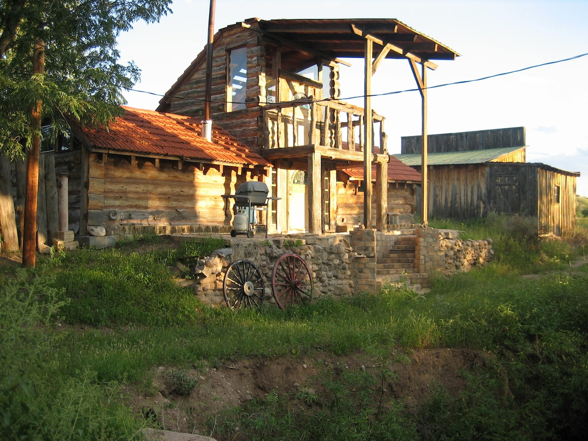 Unique log cabin on the Gila