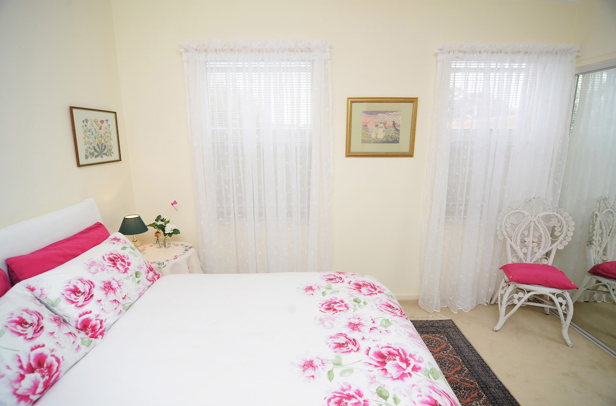 The second bedroom has a comfy double bed and good quality linen
