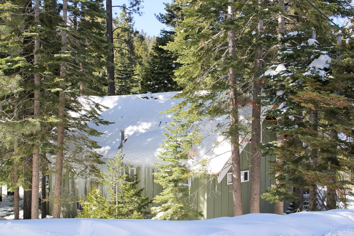 50's style Tahoe Cabin: Hand built and nestled into forest in quiet corner of neighborhood.