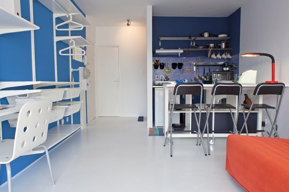 Studio design centre / 50 m plage