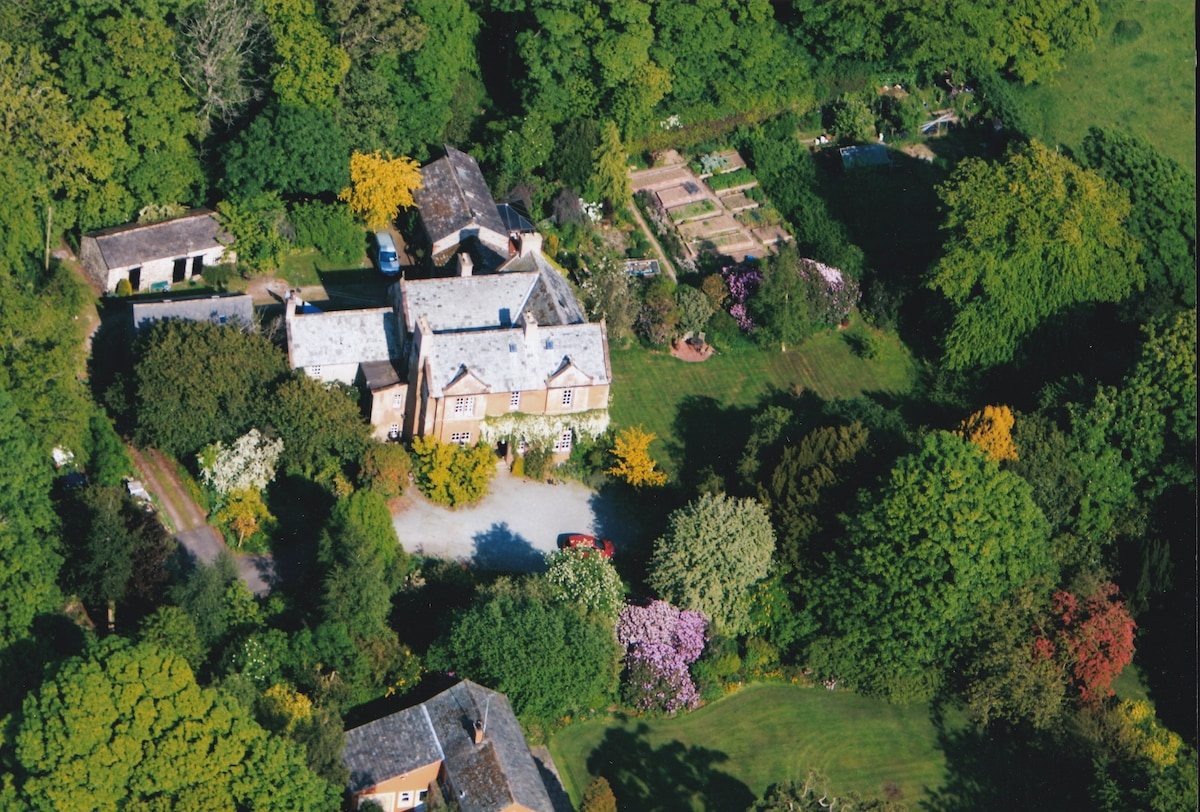 The grounds and house from the air