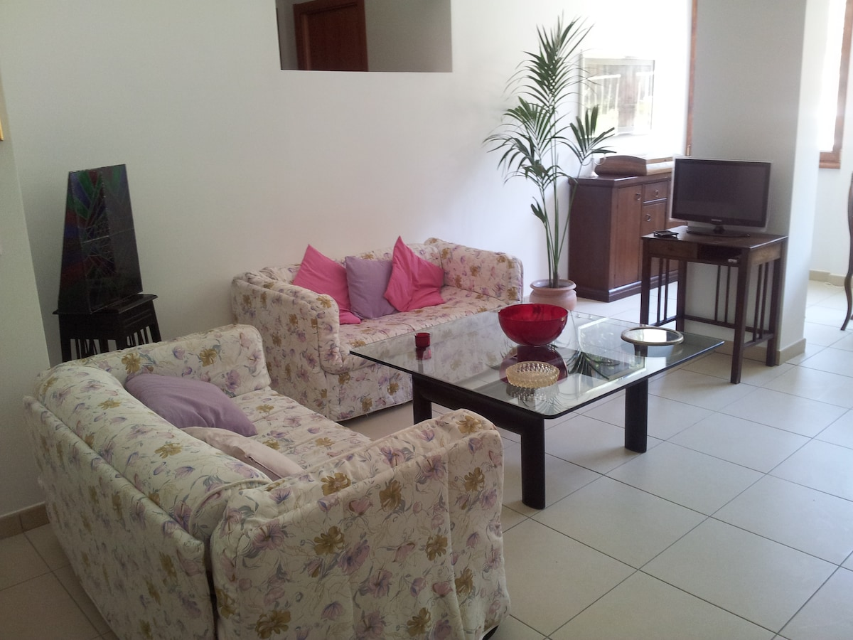 Living room with 2 single sofa beds