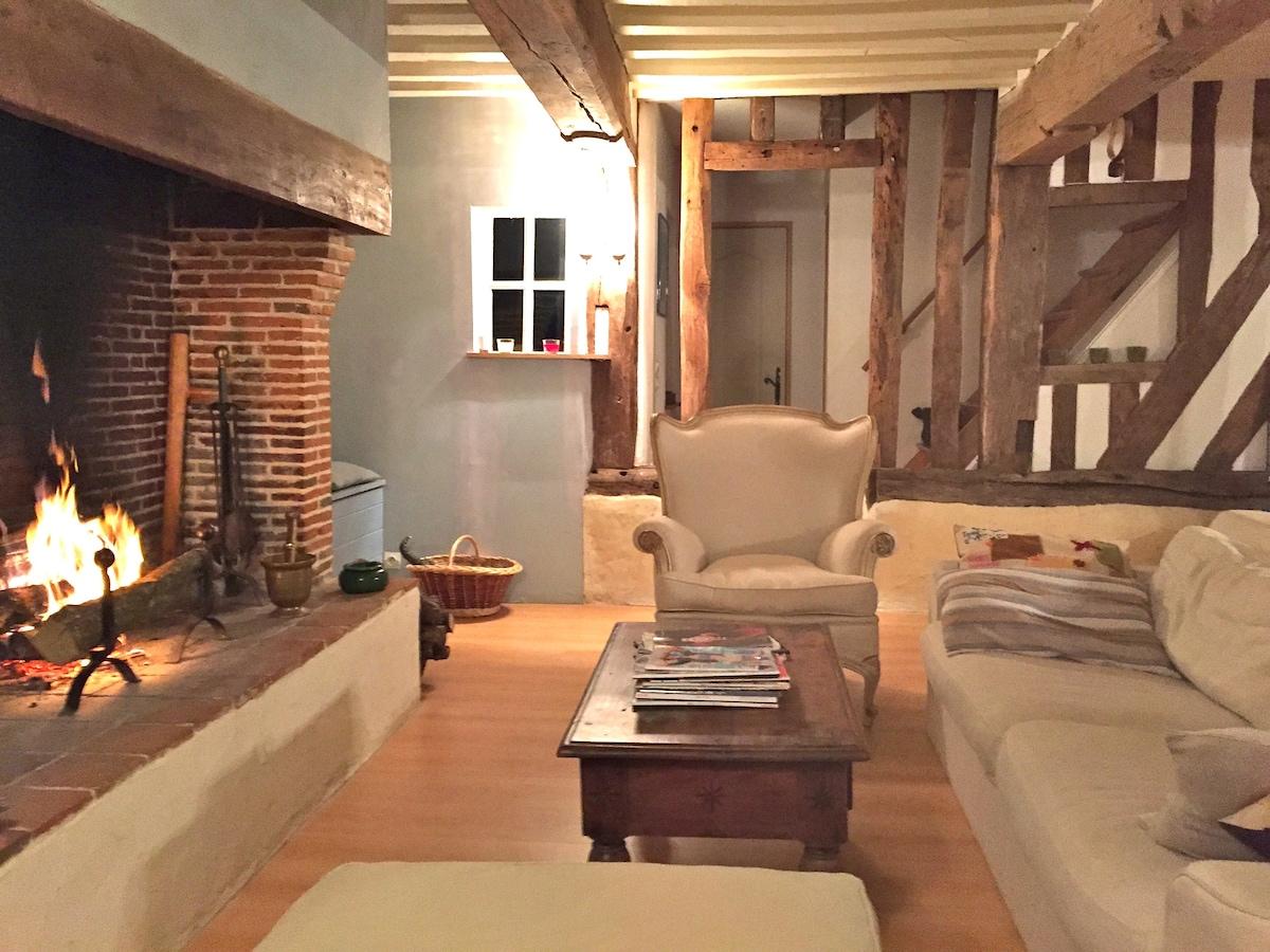 Vacances de charme en normandie thiberville for Voir interieur de maison