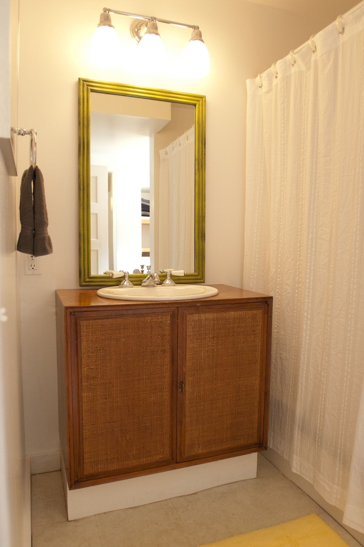 Bathroom with shower and tub.
