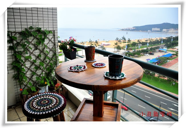 apartment with a sea view balcony