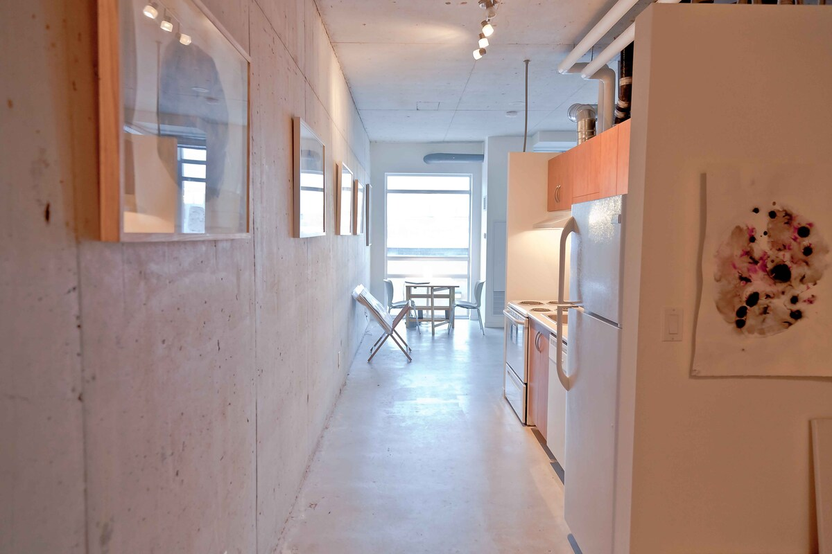 Your private gallery wall in the galley kitchen