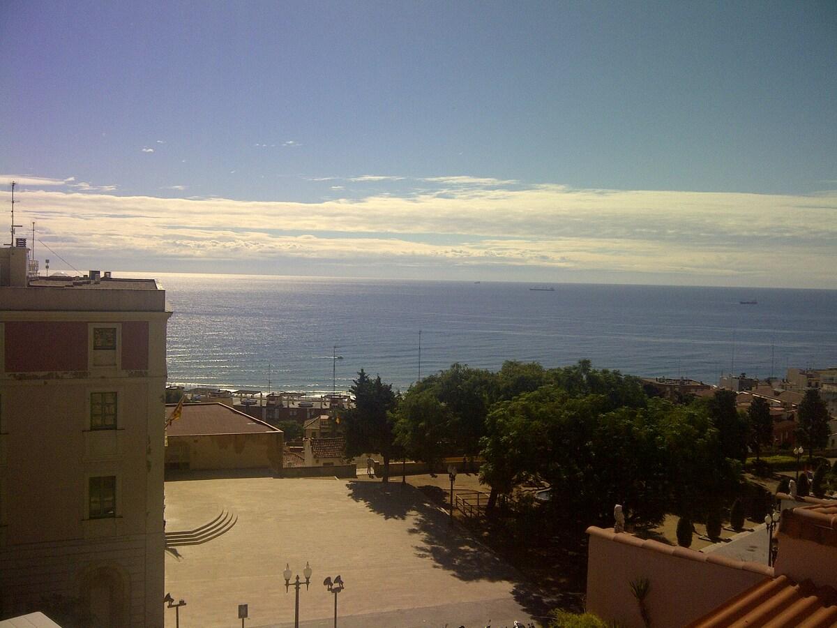 Vistas al mar en centro histórico