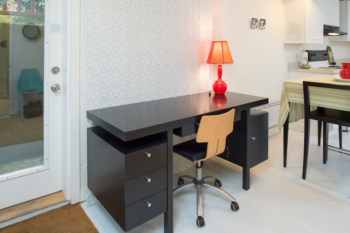 A desk for writing.