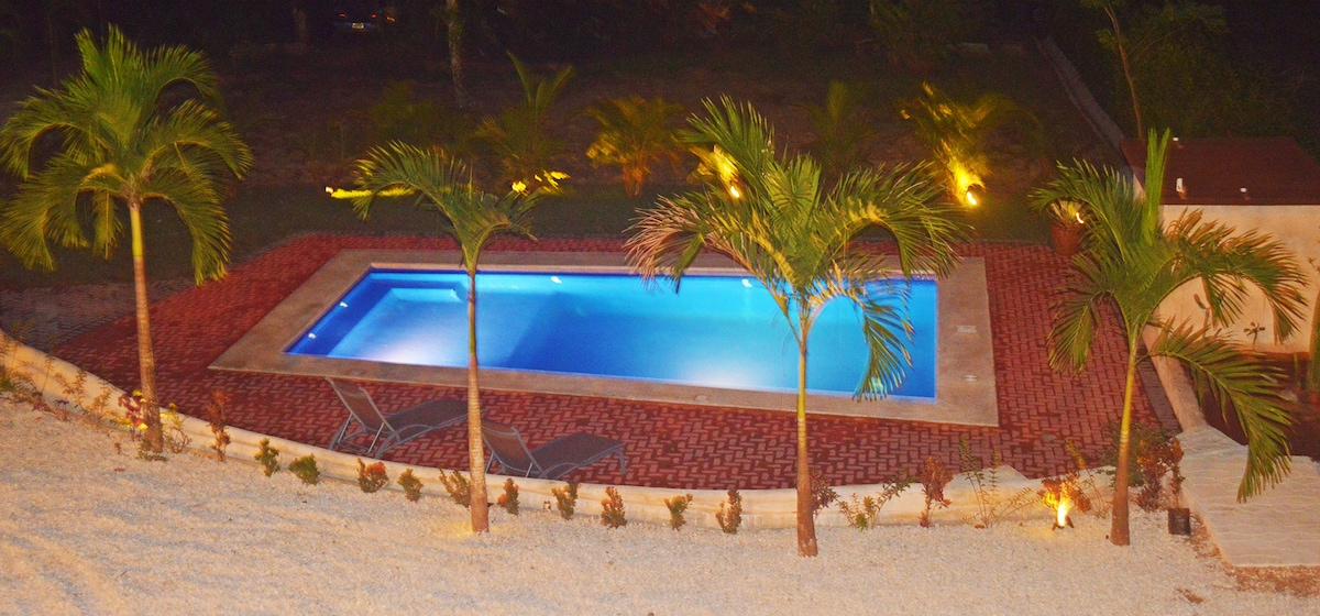 Our beautiful tropical pool just a few steps from the penthouse.