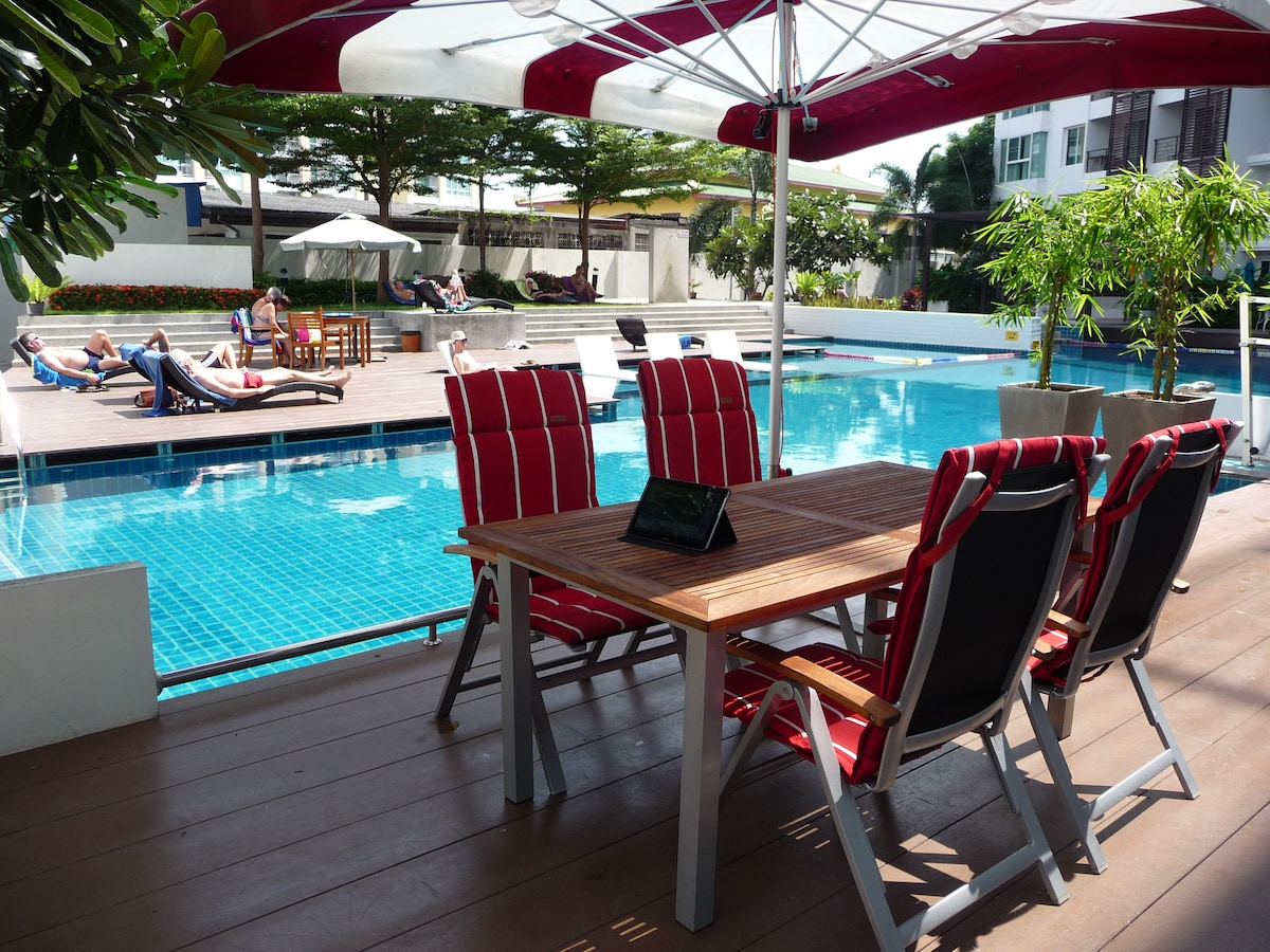 Garden furniture at the pool side have a chat with peopl for Outdoor furniture hua hin