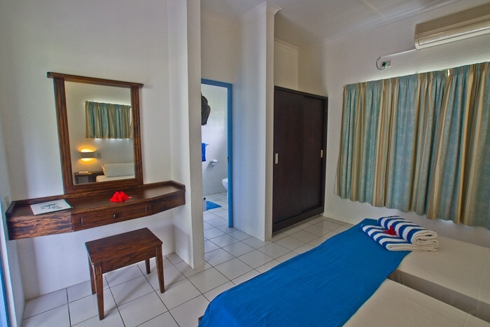 Bedroom with ensuite shower. Air conditioning n overhead fan.