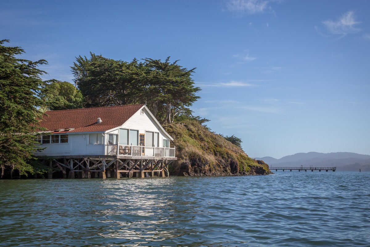 View of High Tide Cottage from water.