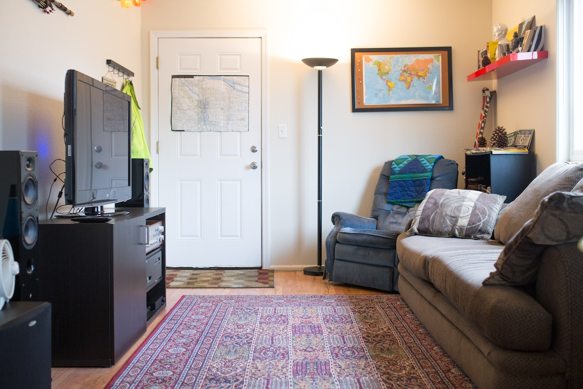 Sunny, central east side apartment