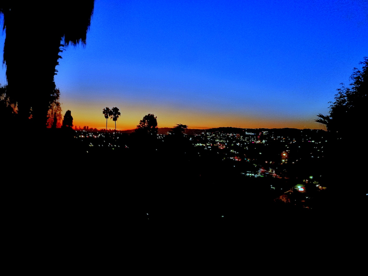 Silver Lake Hills Over Hollywood