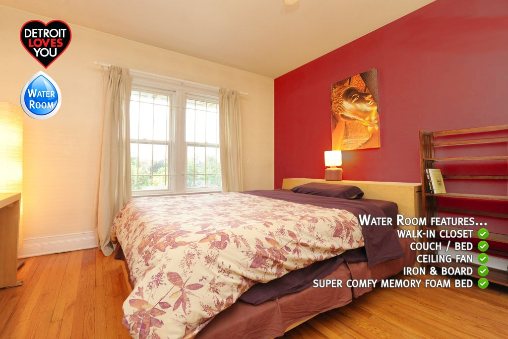 Water Room (2nd floor) - your room! Freshly painted & refinished