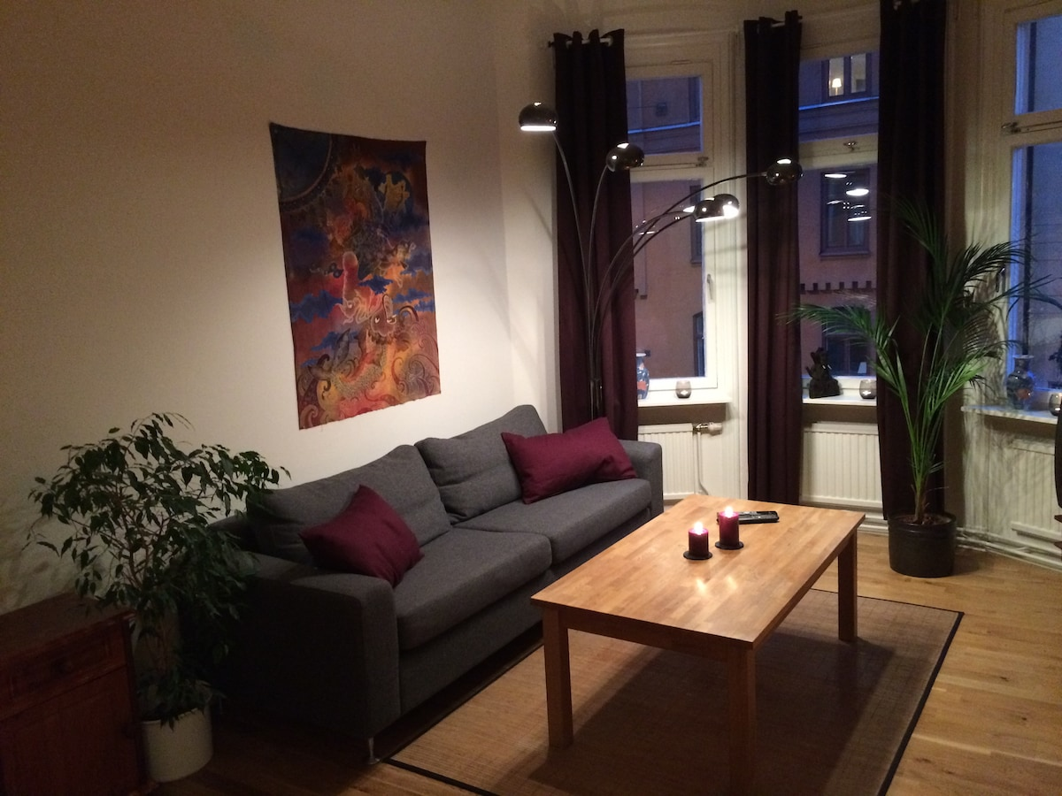 Cosy flat in center of Stockholm